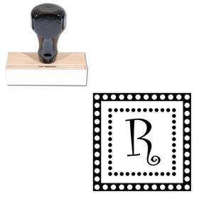 Curlz Rubber Initial Stamp