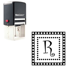 Self Stamping Curlz Rubber Initial Stamp