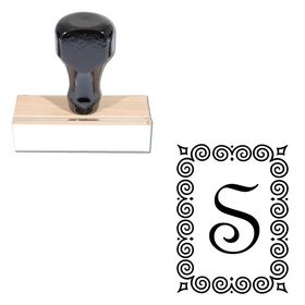 French Script Personalized Monogrammed Stamp