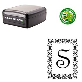 Slim French Script Personalized Monogrammed Stamp