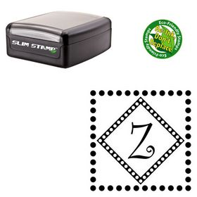 Slimline Curlz Personal Initial Address Stamp