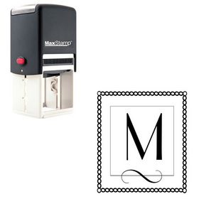 Self-Inking Parisian Personalized Monogrammed Letter