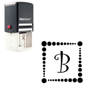 Self Inking Curlz Customized Initial Rubber Stamp
