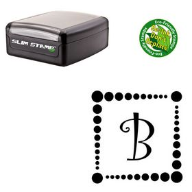 Slim Curlz Customized Initial Rubber Stamp