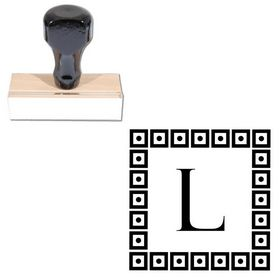 Felix Titling Custom Monogrammed Letter Stamp
