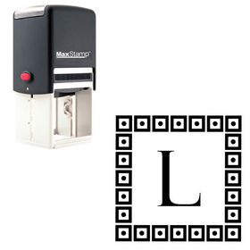 Self-Inking Felix Titling Custom Monogrammed Letter Stamp