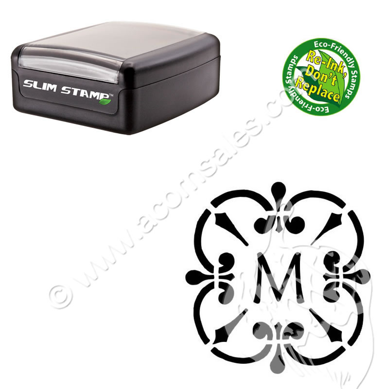personalized initials stamp maiandra initial stamp