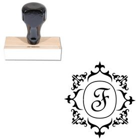 French Script Custom Monogrammed Letter Stamp