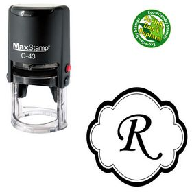 Self Inking Montype Corsiva Personalized Monogram Stamp