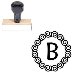 Maiandra Custom Monogram Rubber Stamp