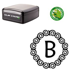 Slim Pre-Ink Maiandra Custom Monogram Rubber Stamp