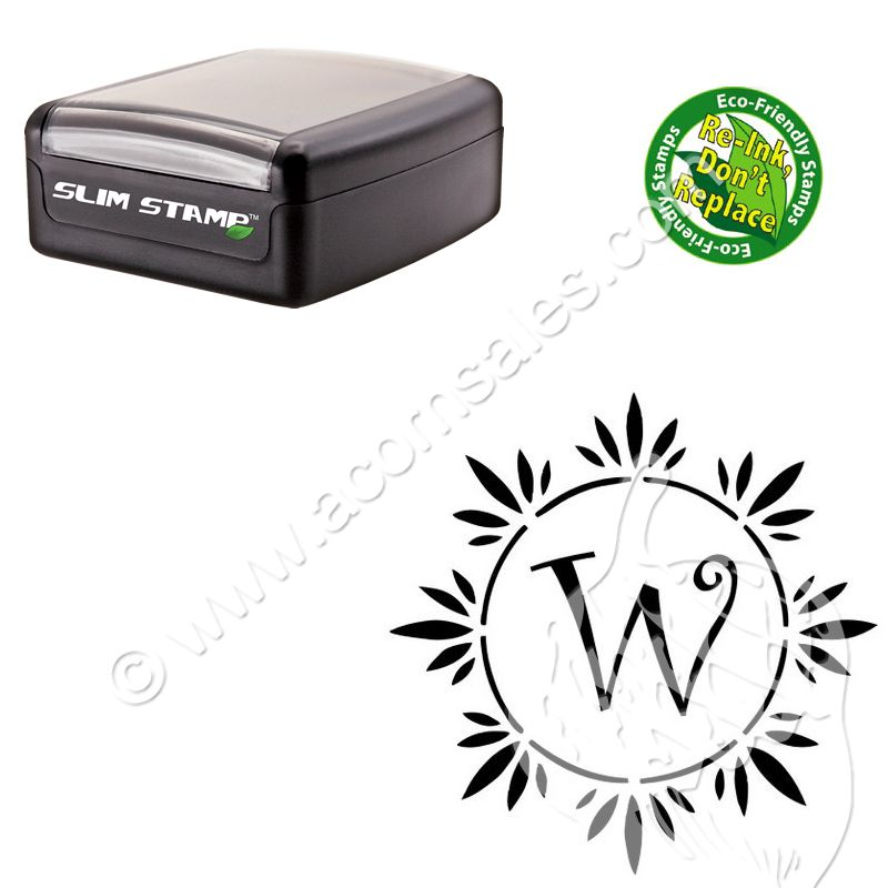 personalized round initial stamper curlz customized stamper