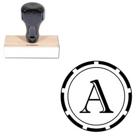 Imprint Shadow Personal Initial Rubber Stamp