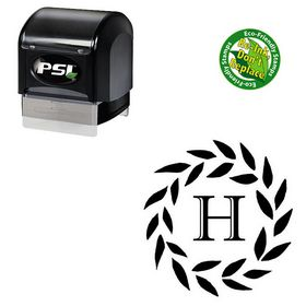 PSI Pre-Ink Imprint Shadow Custom Made Monogrammed Letter Stamp