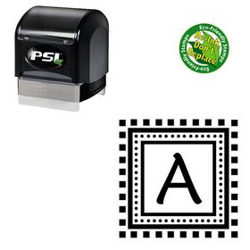 Pre-Inked Maiandra Personalized Initials Stamp
