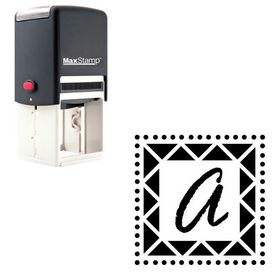 Self Inking Rage Italic Custom Monogram Stamp