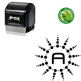 PSI Pre-Ink MetroDF Customized Initials Stamp