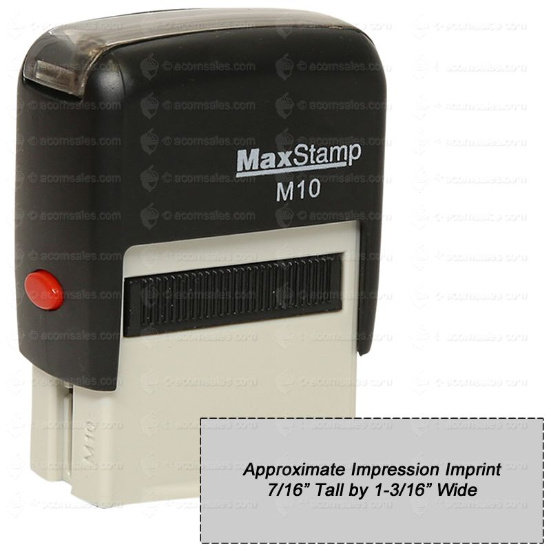 self inking stamp m10 custom stamps acorn sales