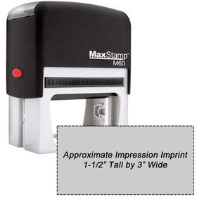 Self Inking Stamp M60 Size 1-1/2 x 3
