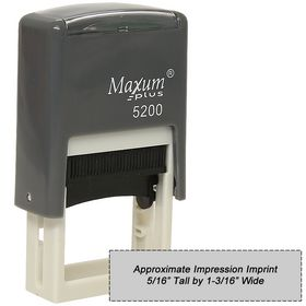 Self Inking Stamp MAXUM 5200 Size 5/16 x 1 3/16