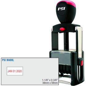 PSI Self Inking Date Stamp 1-1/8 x 2-3/8 Dates Left