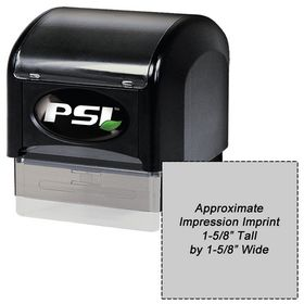 PSI4141 Pre Inked Stamp 1-5/8 x 1-5/8