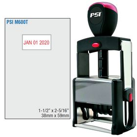 PSI Self Inking Date Stamp 1-1/2 x 2-5/16 Dates Top