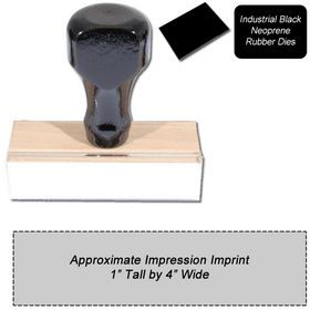 Regular Black Neoprene Rubber Stamp Size 1 x 4