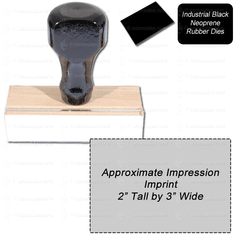Regular Rubber Stamp Size 2 Quot X 3 Quot Black Neoprene Stamps