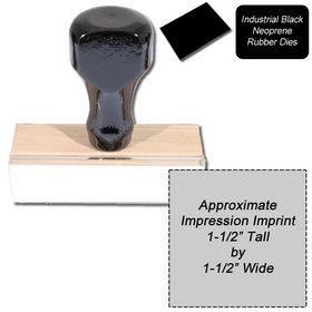 Regular Black Neoprene Rubber Stamp Size 1-1/2 x 1-1/2