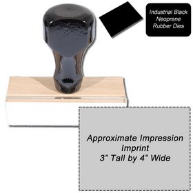 Regular Black Neoprene Rubber Stamp Size 3 x 4
