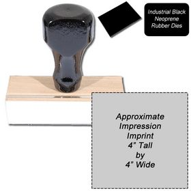 Regular Black Neoprene Rubber Stamp Size 4 x 4