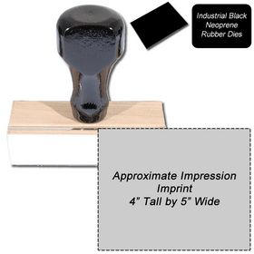 Regular Black Neoprene Rubber Stamp Size 4 x 5
