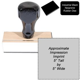 Regular Black Neoprene Rubber Stamp Size 5 x 5