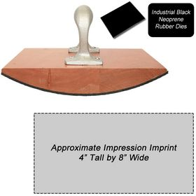 Regular Black Neoprene Rubber Stamp Size 4 x 8