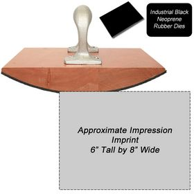 Regular Black Neoprene Rubber Stamp Size 6 x 8