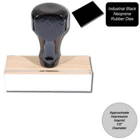 Regular Black Neoprene Rubber Stamp Size 1/2 Diameter