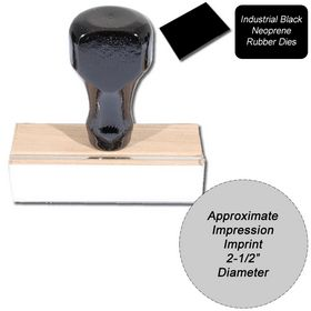 Regular Black Neoprene Rubber Stamp Size 2-1/2 Diameter