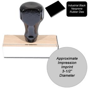 Regular Black Neoprene Rubber Stamp Size 3-1/2 Diameter