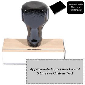 5 Line Black Neoprene Regular Rubber Stamp