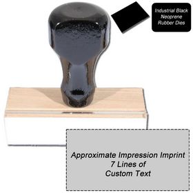 7 Line Black Neoprene Regular Rubber Stamp
