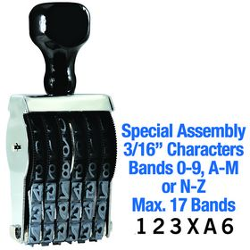 Special Assembly Line Number Stamp 3/16 Character Size
