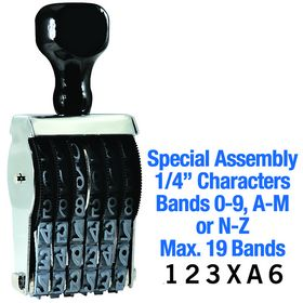 Special Assembly Line Number Stamp 1/4 Character Size