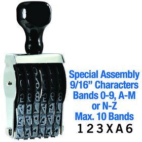 Special Assembly Line Number Stamp 9/16 Character Size