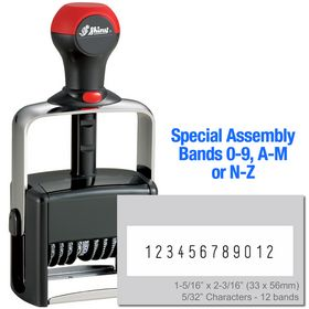 Special Assembly 12 Wheel Shiny Heavy Duty Number Stamp 5/32 Characters with Plate