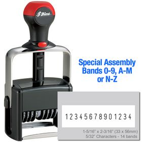 Special Assembly 14 Wheel Shiny Heavy Duty Number Stamp 5/32 Characters with Plate