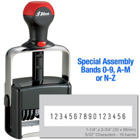 Special Assembly 16 Wheel Shiny Heavy Duty Number Stamp 5/32 Characters with Plate