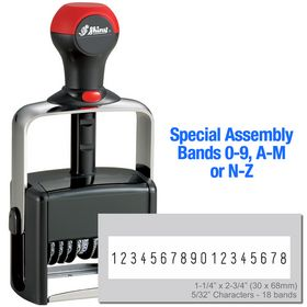 Special Assembly 18 Wheel Shiny Heavy Duty Number Stamp 5/32 Characters with Plate