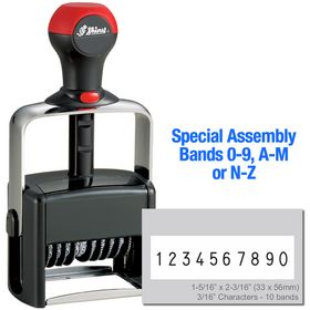 Special Assembly 10 Wheel Shiny Heavy Duty Number Stamp 3/16 Characters with Plate