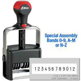 Special Assembly 12 Wheel Shiny Heavy Duty Number Stamp 3/16 Characters with Plate
